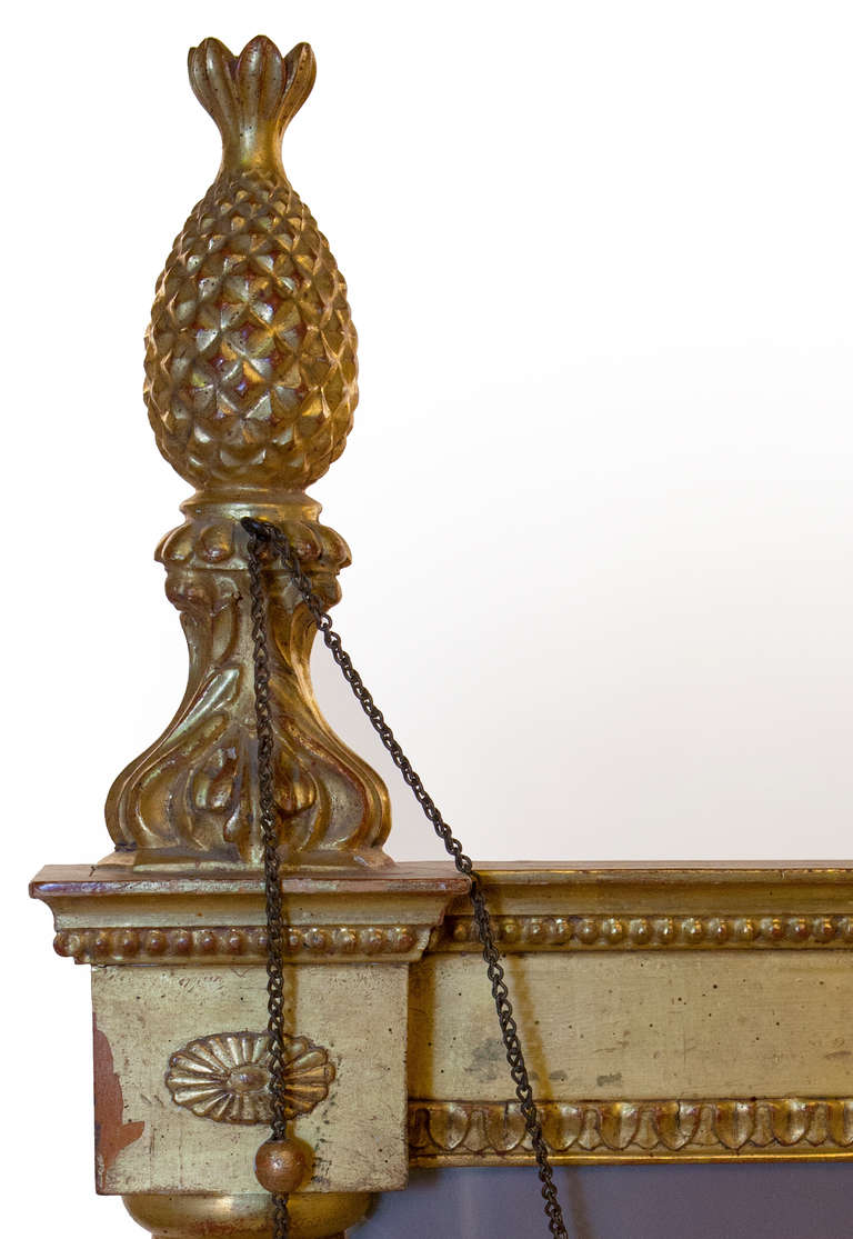 Molded George III Style Giltwood and Gesso Pier Mirror For Sale