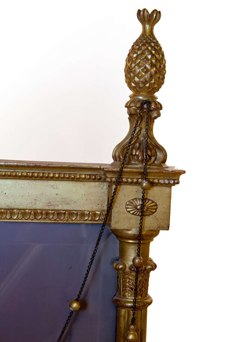 19th Century George III Style Giltwood and Gesso Pier Mirror For Sale