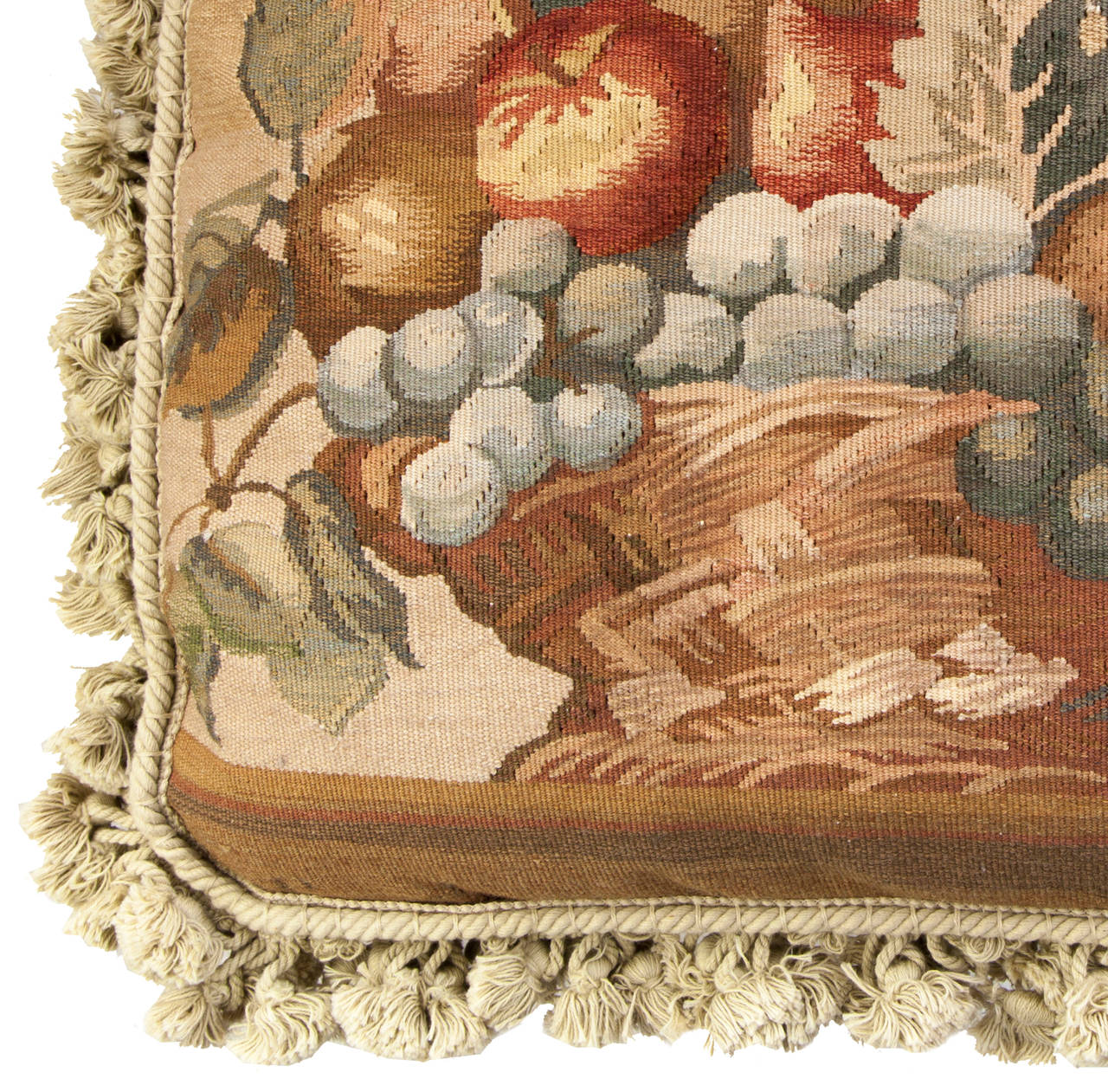 18th Century Aubusson Tapestry Pillow For Sale