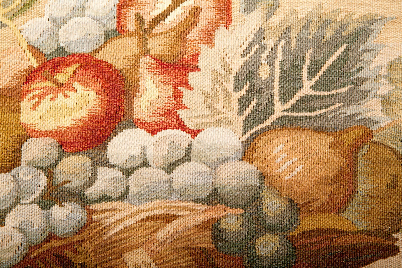 Aubusson Tapestry Pillow In Good Condition For Sale In Asheville, NC