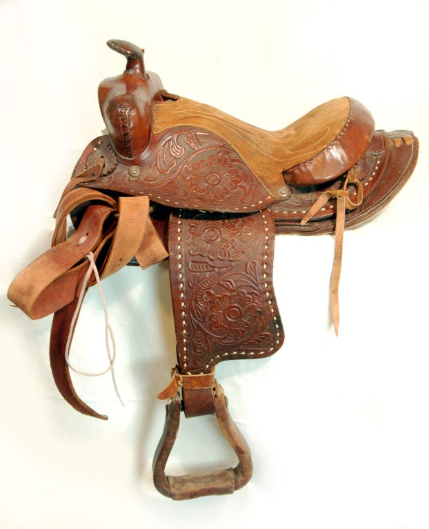 Set of Three Antique Western Saddles at 1stdibs