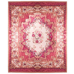 Louis XV Style Floral Needlepoint Rug
