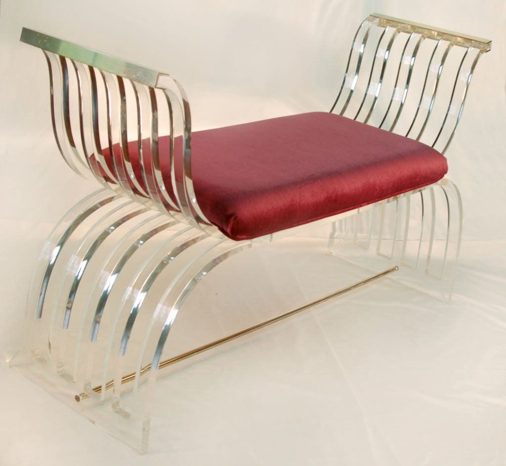 Lucite Bench At 1stdibs