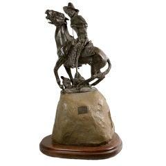 """Bronze of Captian William """"Bucky O'Neil"""" by Jack Osmer"""