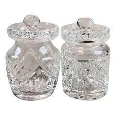 Waterford Crystal Jam and Honey Pots