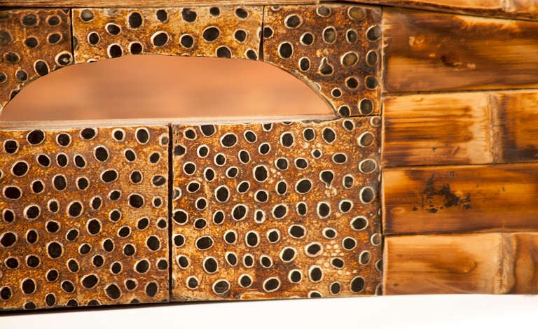 Bamboo Nesting Tables In Excellent Condition For Sale In Asheville, NC