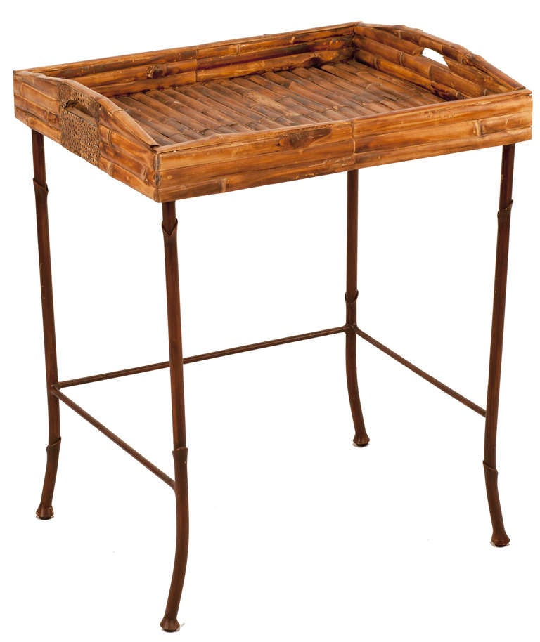 Bamboo Nesting Tables For Sale 4