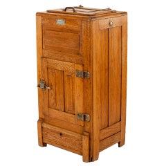 Antique Mission Oak Icebox