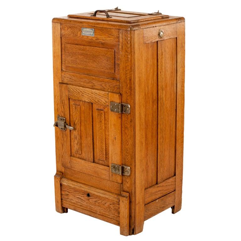 Antique Mission Oak Icebox at 1stdibs