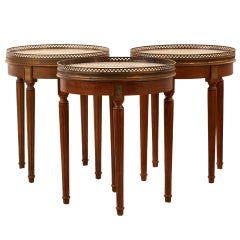 Trio of Early 20th Century Bouillotte Tables