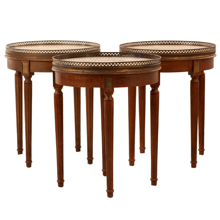 Trio of Early 20th Century Bouillotte Tables For Sale