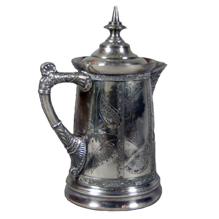 Rockford Silver Company Pitcher with Wedding Engraving