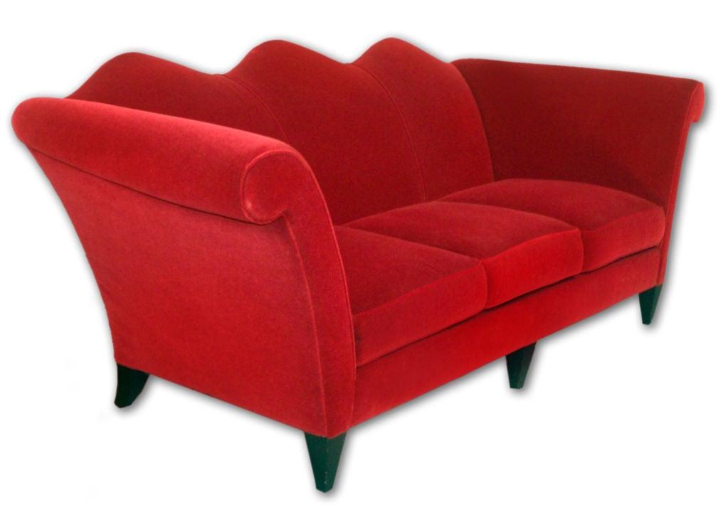 Donghia U0027San Marcou0027 Sofa Upholstered In Ruby ...