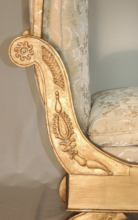 Enchanting French Empire Style Chaise Longue 6