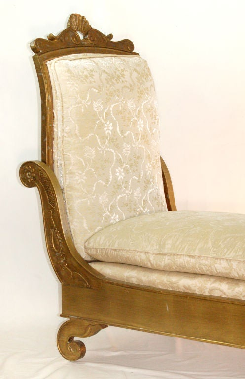 Enchanting french empire style chaise longue for sale at for Chaise longue french