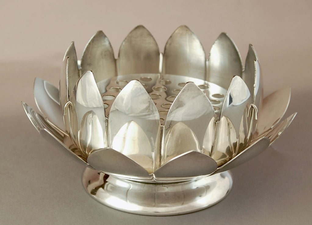Collection Of Silver Lotus Bud Vases At 1stdibs