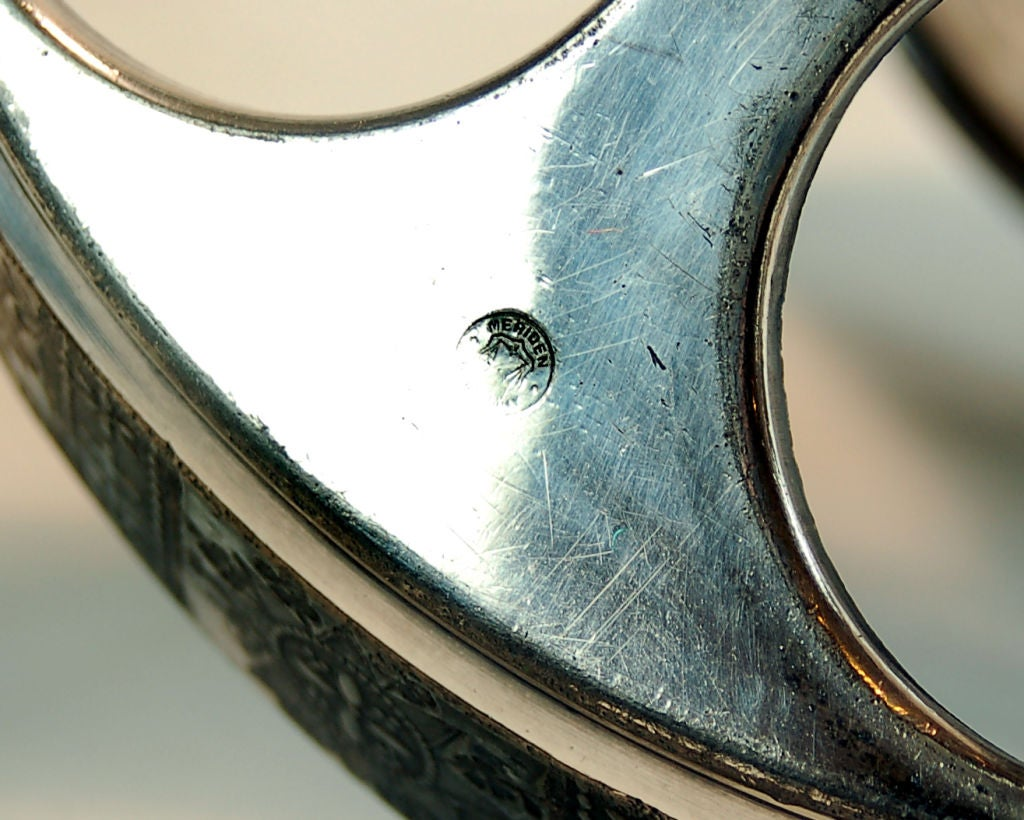 19th Century Antique Meriden Silver Plated Cruet Set For Sale