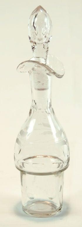 Glass Antique Meriden Silver Plated Cruet Set For Sale
