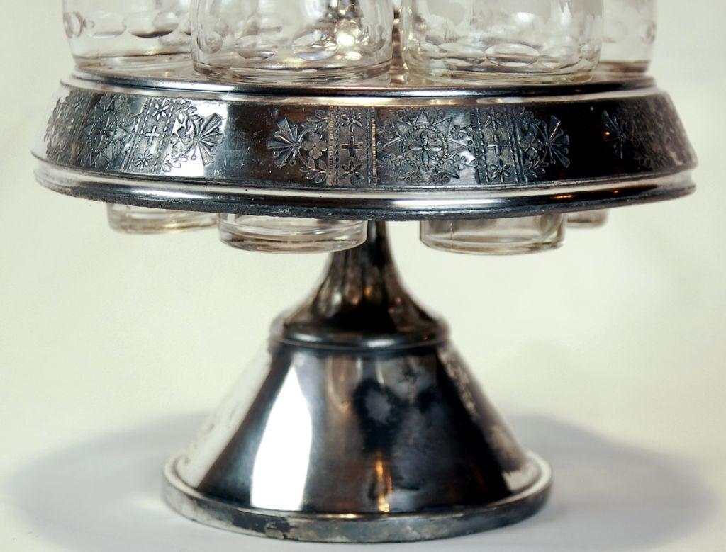 Antique Meriden Silver Plated Cruet Set For Sale 4