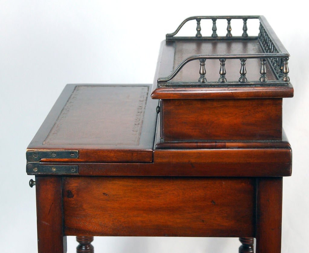 Pair Of Regency Style Secretary Desk On Casters For Sale