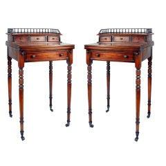 Pair of Regency Style Secretary Desk on Casters