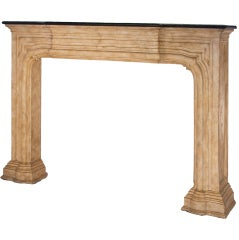 Faux Edge-Molded Fireplace Mantle