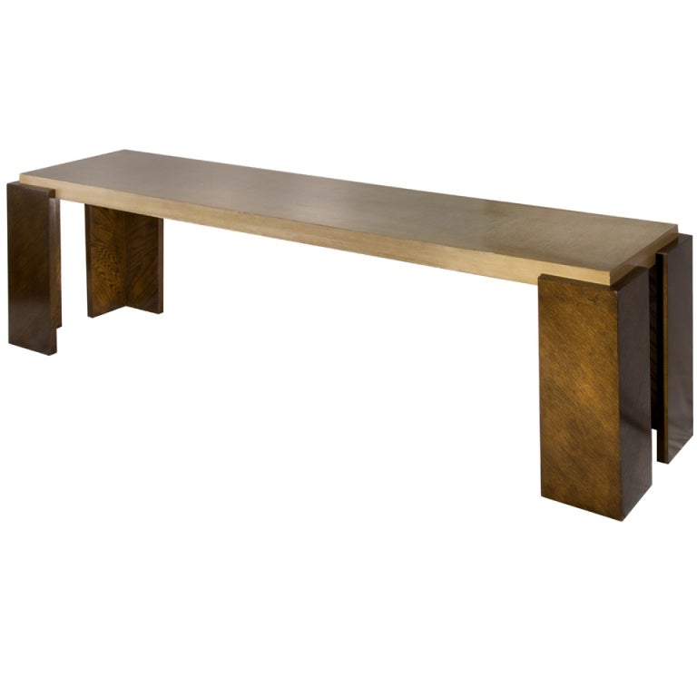 Karl Springer Style Modern Console For