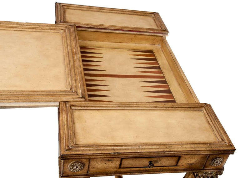 Reversible Gaming Partners Table - Neoclassical Style In Good Condition For Sale In Asheville, NC