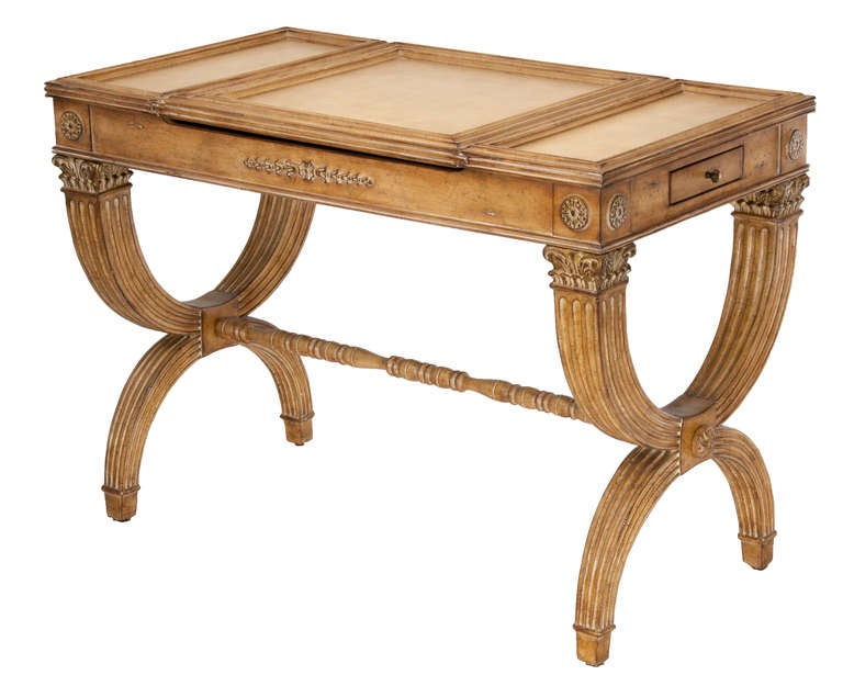 American Reversible Gaming Partners Table - Neoclassical Style For Sale