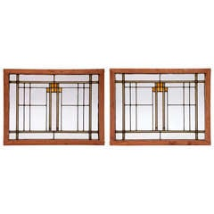 Twin Deco Stained Glass