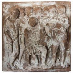 Terra Cotta Minstrels Bas-Relief