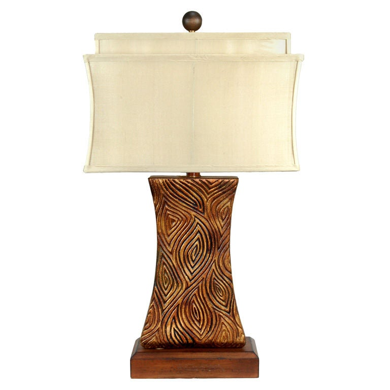 Tribal Resin Lamp Designed by Joanne Hollingsworth