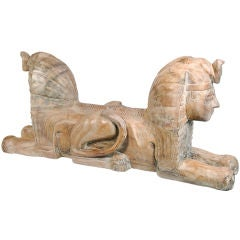 Two-Headed Egyptian Sphinx Sculpture