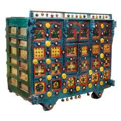 18th Century Manjoosh Indian Teak Cart