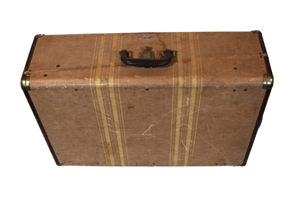 Vintage Aero Pak Cardboard Suitcase For Sale at 1stdibs