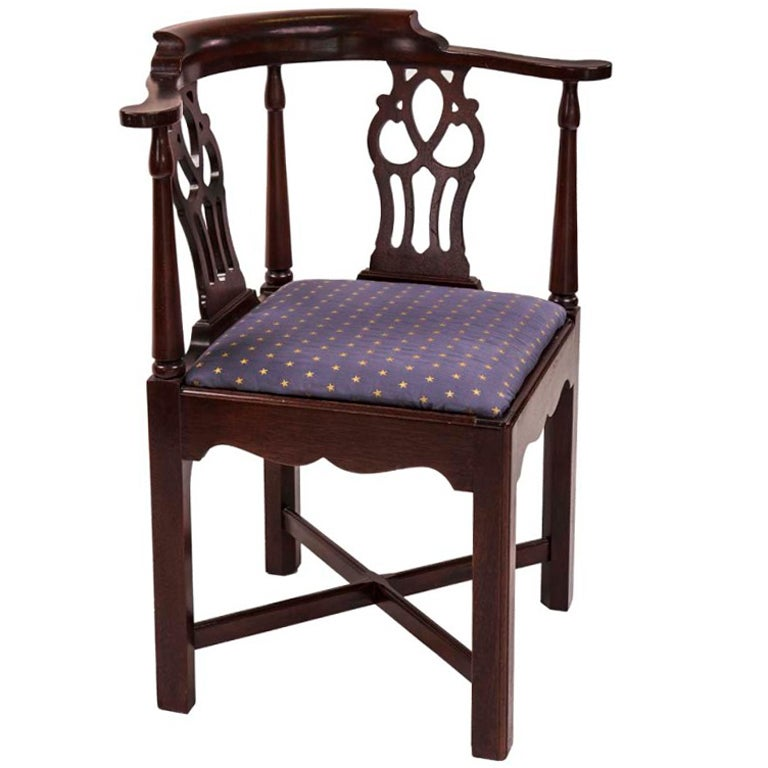Chippendale Style Corner Chair At 1stdibs