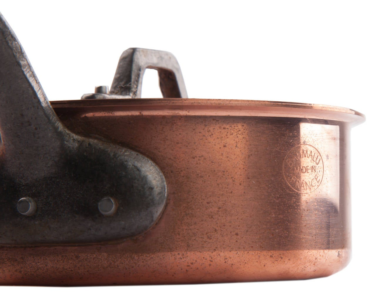 pair of french mid century gourmet copper pots by baumalu 9 - Copper Pots
