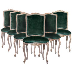 Louis XV Style Carved and Gilded Side Chairs (6)