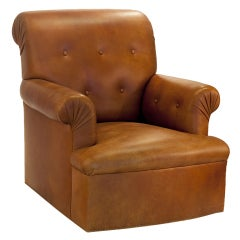Ralph Lauren Style Leather Chair