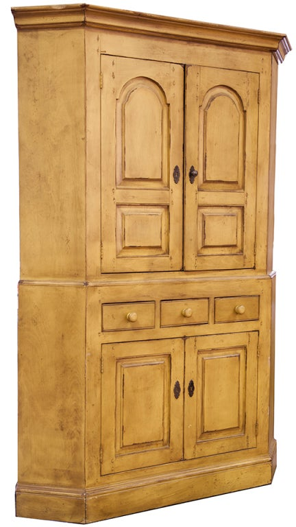 French Country Corner Cabinet For Sale at 1stdibs