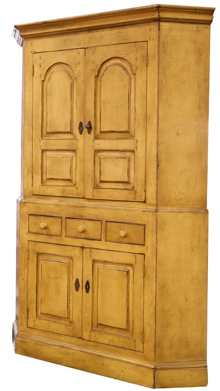 French Country Corner Cabinet | Home Design Inspirations