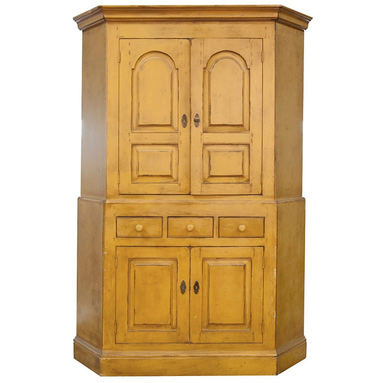 French Country Corner Cabinet