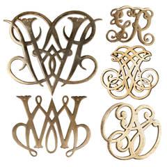 Midcentury Williamsburg Brass Trivets