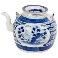 Canton Chinese Teapot with Lid
