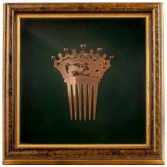 Framed Lady's Hair Comb from the 19th Century
