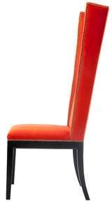 Velvet Orange Chair Quartet At 1stdibs