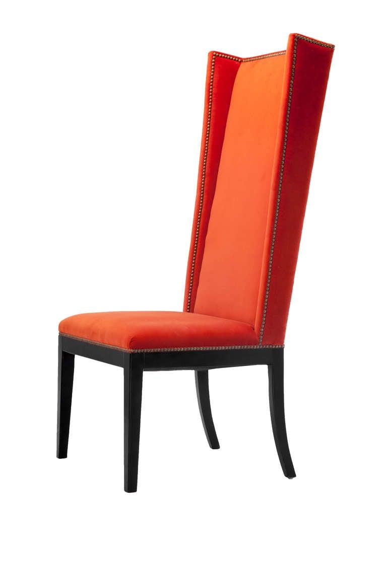 velvet orange chair quartet for sale at 1stdibs. Black Bedroom Furniture Sets. Home Design Ideas