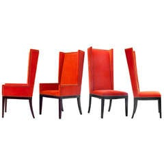 Velvet Orange Chair Quartet