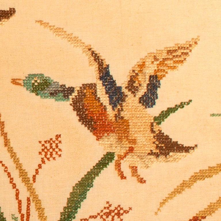 Vintage Needlepoint Mallards in Flight 3