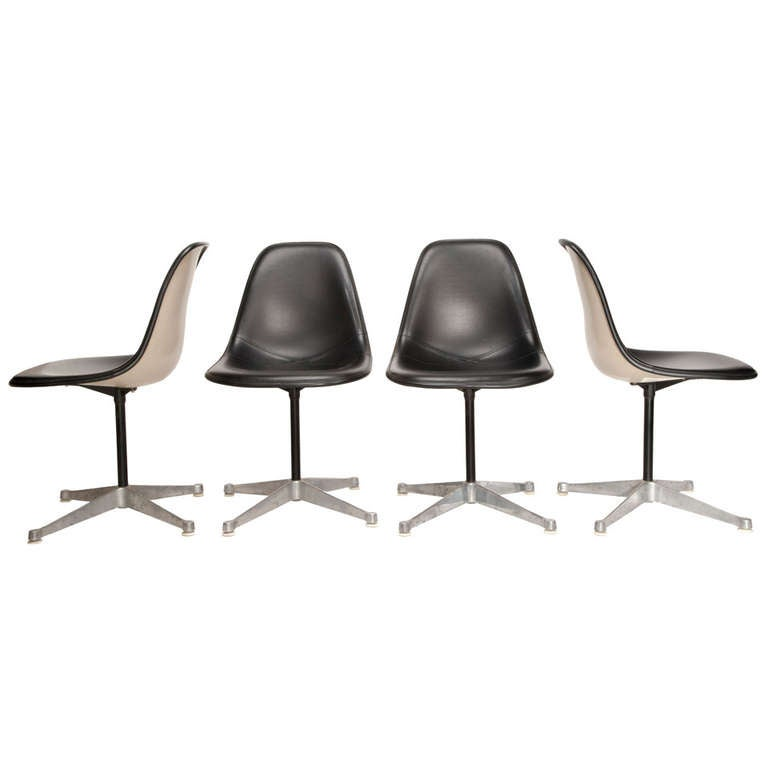 Set of Four Eames for Herman Miller Pedestal Chairs
